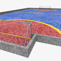 3d freestyle football pitch model