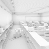 3d scene warehouse factory
