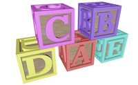 3d alphabet blocks letters
