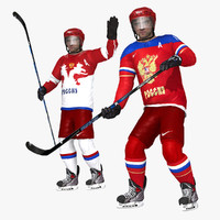 sochi hockey rigged 3d model