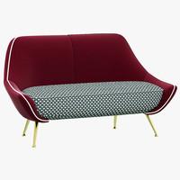 baxter mio sofa 3d 3ds