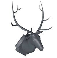 mounted stag deer head 3d model