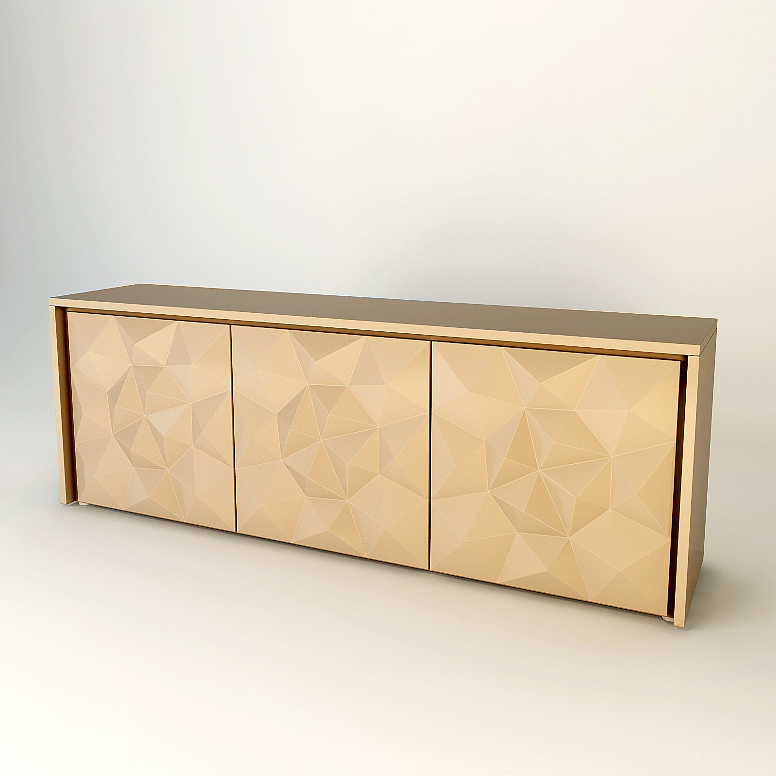 Sideboard fendi madia crystal 3d model for Sideboard 3d