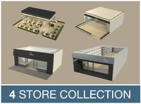 3d shop collections model