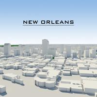 3d new orleans cityscape