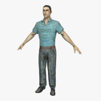 3d man male human