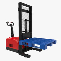 electric walkie stacker pallet 3d 3ds