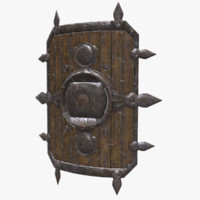 shield old 3d model