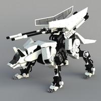 3d model of mech wolf