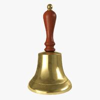 3d bell brass model