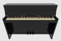 maya upright piano keyboard