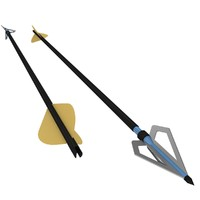 arrow head broadhead 3d model