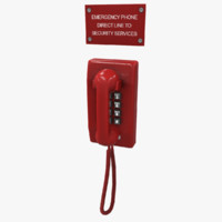 emergency phone 3d max