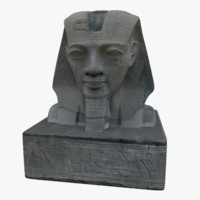 3d model statue egyptian head