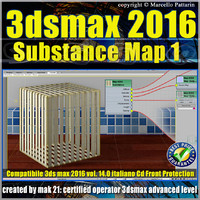 3ds max 2016 Substance Map volume 14.0_cd front