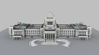 3d model national diet building