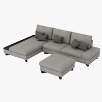 3ds max sofa couch ottoman
