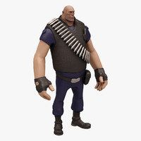 3d heavy team fortress model