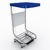 maya mobile hamper stand
