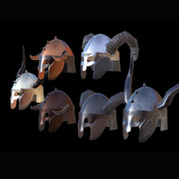 viking helmet pbr 3d fbx