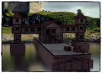 3d 2 medieval buildings