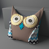 pillow owl 3d model