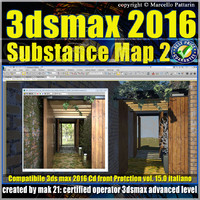 3ds max 2016 Substance Map volume 15.0_cd front