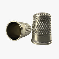 3d thimble modeled realistic model