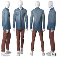 man mannequin 3d model