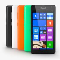 3d model nokia lumia 535