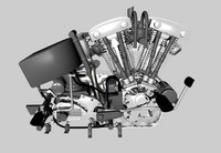 obj motorbike engine