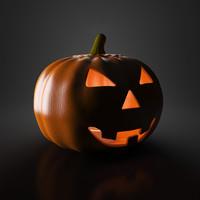 3d helloween pumpkin