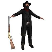 maya cowboy belt revolver