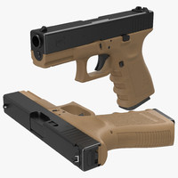 compact pistol glock 19 3d max