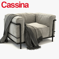 3d model cassina lc3 outdoor