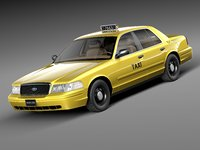 Ford Crown Victoria New York Taxi yellow cab 1998-2001