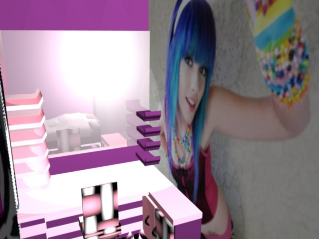 Layla bedroom emo girls 3d ma for Emo bedroom ideas