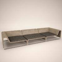 sofa paola lenti 3d model