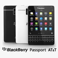 3d blackberry passport t black model