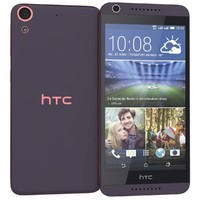 3d htc desire 626g purple model