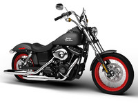 cruiser chopper bike harley davidson 3d max
