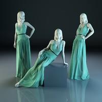 Woman Mannequin Dress Christian Dior