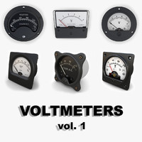 analog voltmeters 3d model