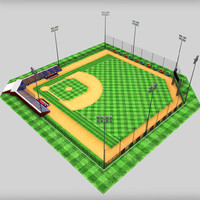 3d 3ds baseball stadium
