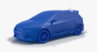 2016 Ford Focus RS 3D Print