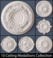 10 Ceiling Medallions Collection