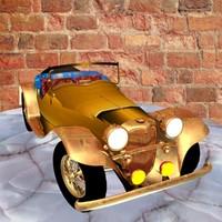 3d classic antique car model