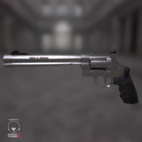 smith wesson 500 revolver 3d obj