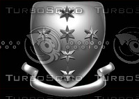 3d model of shield crest