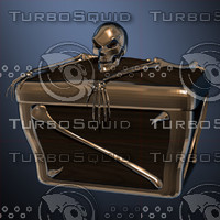 treasure chest 3d obj